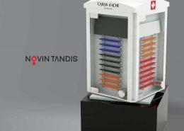 استند CARAN d'ACHE - نمونه استند - استند محصولات - نمونه کار استند محصولات - ساخت استند - نوین تندیس