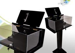 صندوق ایستاده نمایش ساعت - صندوق ایستاده - نمونه صندوق ایستاده - ساخت صندوق - سقارش صندوق - نوین تندیس