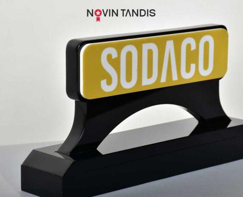 تندیس SODACO - نمونه تندیس - ساخت تندیس - تندیس - قیمت تندیس - نوین تندیس
