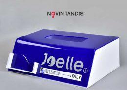 استند دستمال کاغذی joelle - نمونه استند - ساخت استند - طراحی استند - سفارش استند - قیمت استند - نوین تندیس